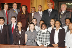 Ari & Columbus Youth Commission Members, Mayor Coleman and City Council Members