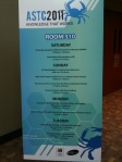 Image of agenda at ASTC 2011