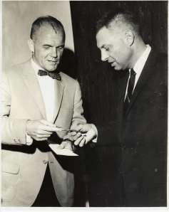John Glenn and Sandy Hallock