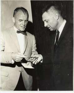 John Glenn and Sandy Hallock